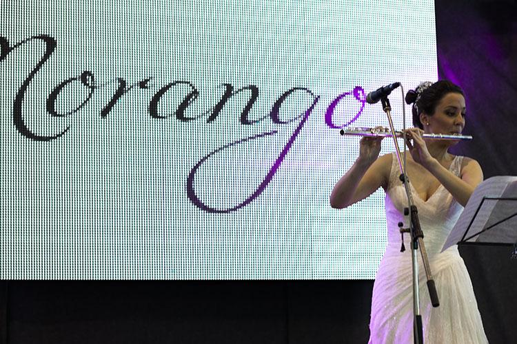 Flautiskinja Ana Radoičic nastupala u Morango haljini