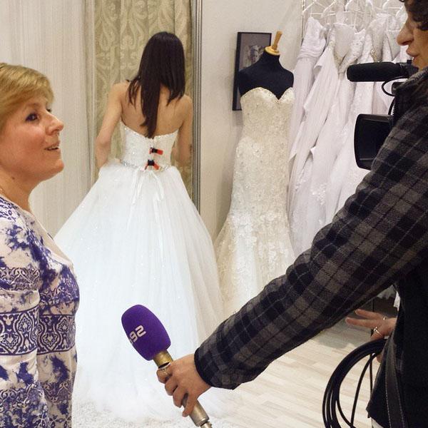 intervju za B92 na Sajmu vencanica u Kragujevcu
